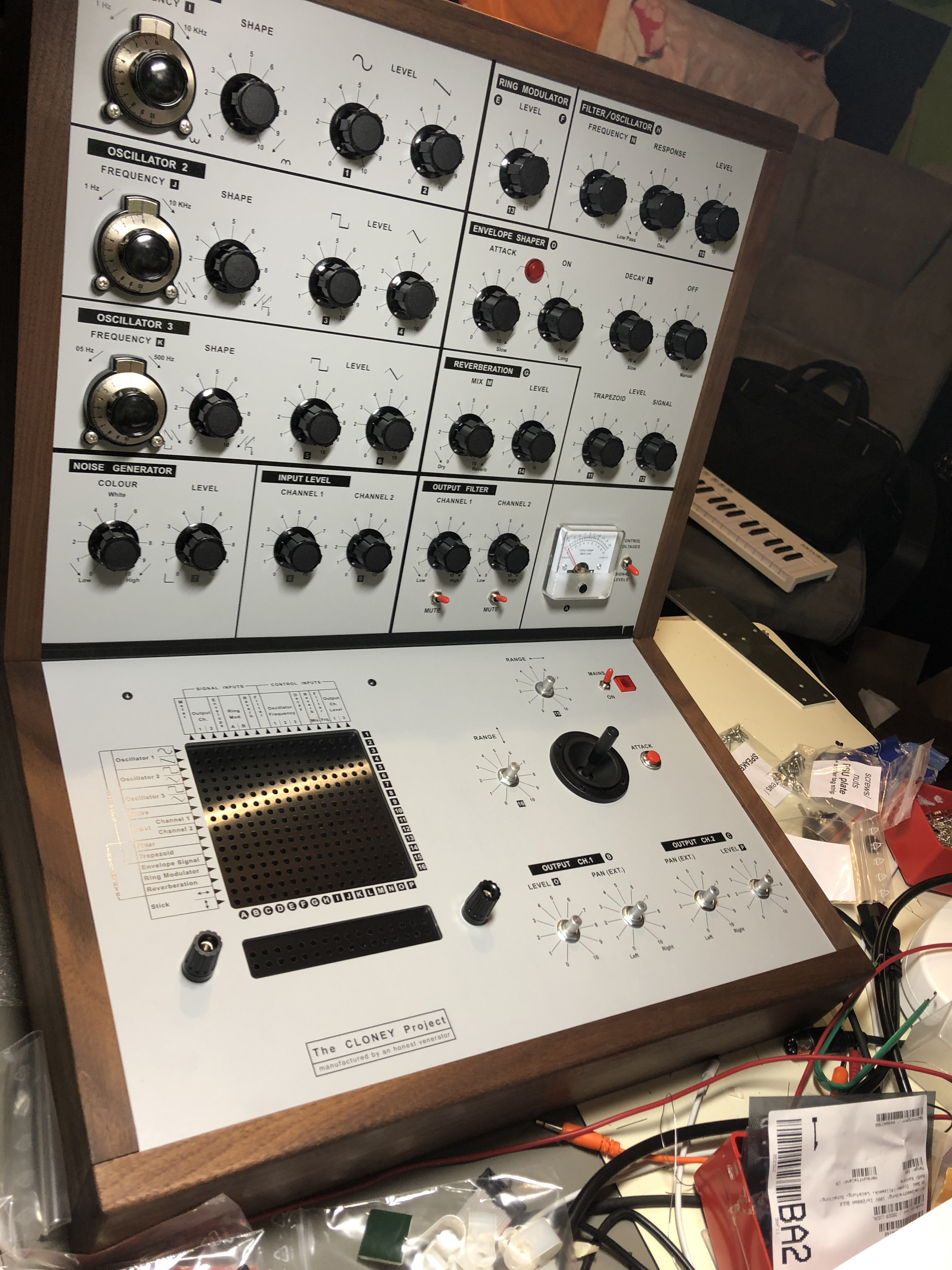 The Cloney Project Vcs3 Clone Diy Synth Other We Love Electronic Projects Simple Build Notes